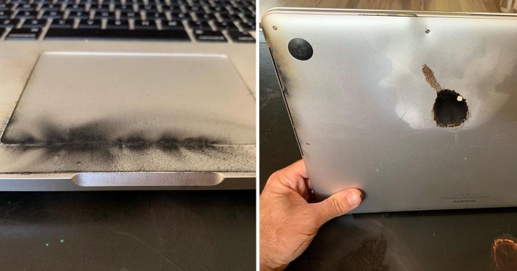 macbook pro 2015 on fire