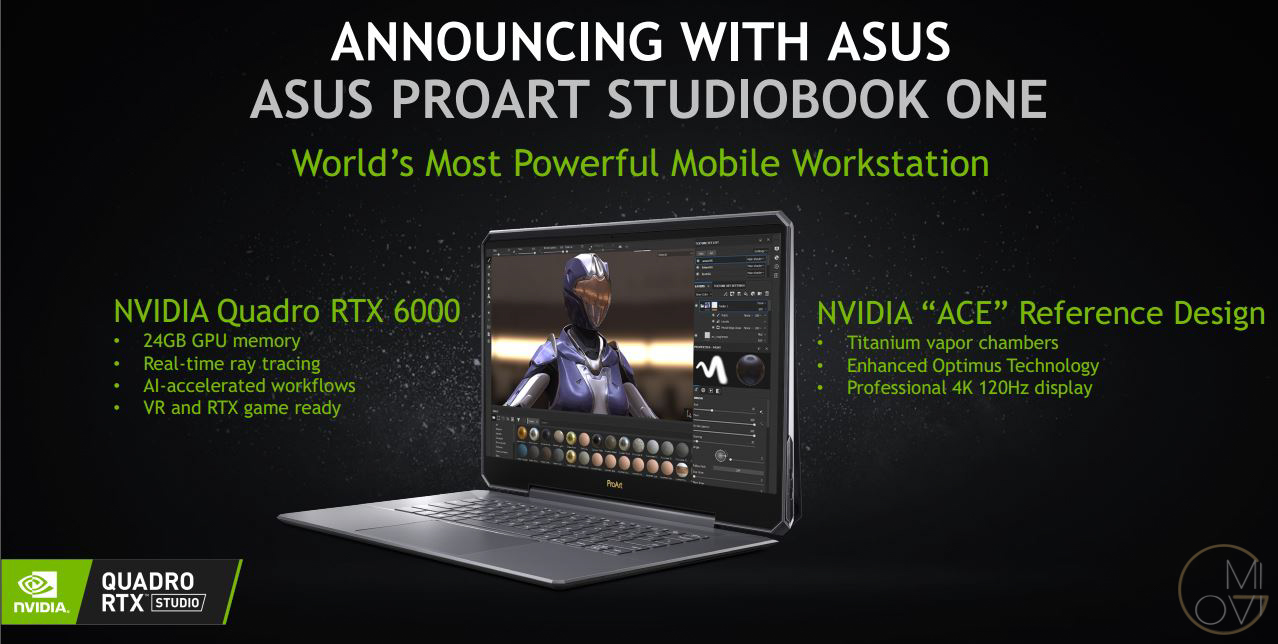 NVIDIA RTX Studio - Hệ thống PC với đồ họa Quadro/GeForce